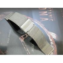 Pulseira Mesh Para Relógio De Luxo Omega Breitling Vejam!
