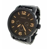 Relógio Masculino Fossil - Jr1356 Tipo Militar, Preto Fosco