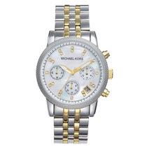Relógio Michael Kors Mk5057 Prata E Dourado Frete Grátis,