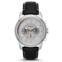 Relógio Masculino Fossil Fs4886 Couro Legitimo Original Gara