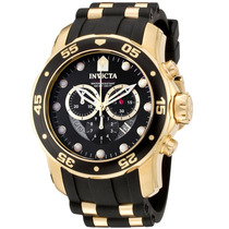 Relógio Invicta Scuba Diver 6981 Banhado Á Ouro 18k