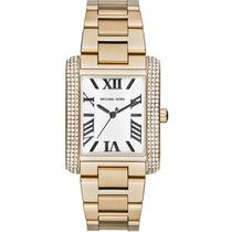 Relógio Michael Kors Mk3254 Quadrado Gold Original, Garantia