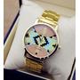 Relógio De Pulso Feminino Geneva Platinun Dourado