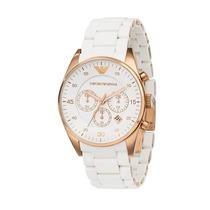 Relógio Emporio Armani Ar5919 Branco Ouro Rose
