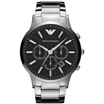 Relógio Emporio Armani Ar2460 Prata E Preto Frete Grátis.