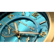 Relógio Michael Kors Mk8315 Dourado Turquesa Na Caixa/manual