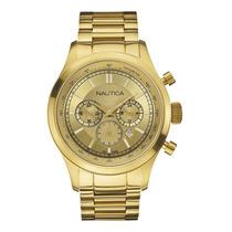 Relógio Nautica Gold Chronograph A22619g-1