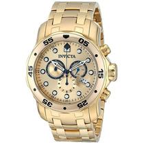 Relógio Invicta Pro Diver 0074 Banhado A Ouro 100% Original