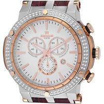 Relógio Masculino Vidro Safira De Luxo C/ Cronógrafo 100 Mts