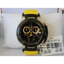 Relógio Tissot T-race Amarelo Original Na Caixa Com Nota