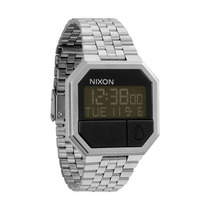 Relogio Nixon Re-run Metal Black A158 000 - Garantia 2 Anos