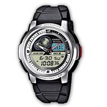 Relogio Casio Aqf 102 Resina Temperatura Timer Branco Aqf102