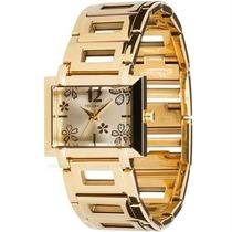 Relógio Feminino Technos Quadrado Dourado Em Aço 2035hhv/4x