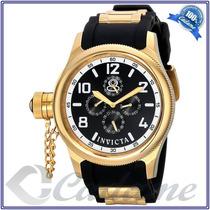 Invicta Russian Diver 1801 Dourado Banhado Em Ouro 48 Mm
