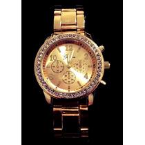Top!!! Relógio Feminino Cor Dourada Tipo Ouro Clássico!!!
