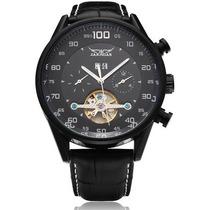 Relógio Branco Preto Sport Jaragar Turbilhão Automático