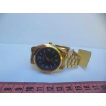 Relógio Muito Lindo Unisex Dourado Oniret Quartz Leilão1,00