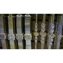Kit 10 Relógios Feminino Dourado Atacado Melhor Preço/frete