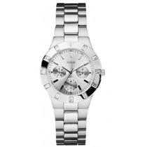 Relogio Guess Feminino U10075l1 Hi Shine Mid Size Silver