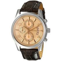 Relogio Guess U0076g3 Brown Masculino Retro Cronografo !