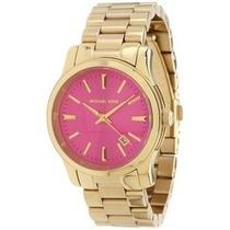 Relógio Michael Kors Mk5801 Rosa Lançamento Completo Mk Pink