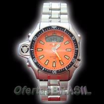 Relógio A T L A N T I S Original Modelo Aqualand Puls. Aço