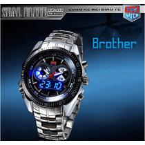 Relógio Masculino Tvg Aço Inoxidável. Analógico E Digital.