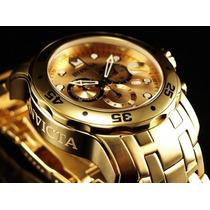 Relógio Invicta Mod. 0074 Pro Diver Chronograph 18k Ouro!