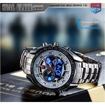 Relógio Tvg Masculino Aço Inoxidável. Analógico E Digital.