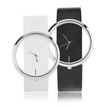 Relógio De Pulso Transparente Unisex