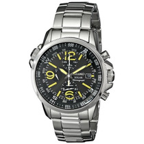 Relógio Seiko Solar Adventure Classic Ssc007 Crono Alarme