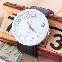 Relógio Alternativo Casual Divertido Lapis De Cor Criança
