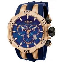 Relógio Invicta 10831 Venom Reserve Azul/rose Frete Grátis