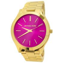 Relógio Michael Kors Mk3264 Dourado Pink Original Com Caixa.