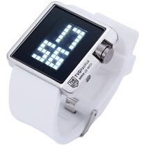 Relógio Led 2014 Espelhado Unissex Tvg - Branco - Qualidade