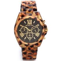 Relógio Michael Kors Mk5904 Tortoise, Original Completo