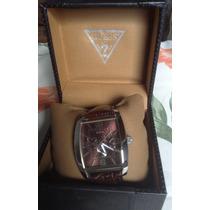 Relógio Masculino Guess, Multifunção, Pulseira Couro, 4,1cm.