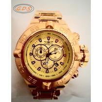 Relógio Invicta Subaqua Noma 3 Iii 5406 Ouro Grande ! 52mm