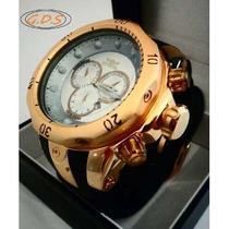 Relógio Invicta Subaqua 0074 Dourado - Pulseira De Borracha