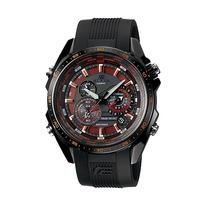 Relogio Casio Eqs 500c-1a2 Solar Crono Alarm Wr100m Aço/resi