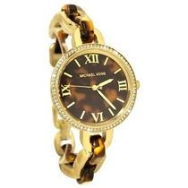 Relógio De Luxo Michael Kors Mk4281 Anal Tortoise Garantia