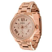 Relógio Feminino Fossil Am4483 Rose Strass Novo Original