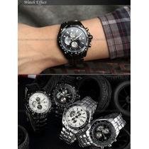 Relógio Masculino Aço Inoxidável Quartz Luxo Sports