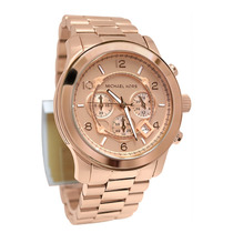 Relógio Michael Kors Mk8096 Rose Caixa + Manual Original
