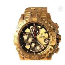 Relógio Festina Dourado 6542 Promocional