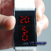 Relógio De Pulso Esportivo Led Vermelho Com Data - Unissex