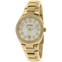 Relógio Feminino Fossil Am4557 Dourado Novo Original