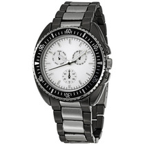 Relógio Masculino Fmd Silver Tone Plated Prata Cinza Chumbo