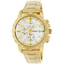 Relógio Fossil Masculino Fs4867 Dourado Novo Original