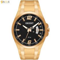 Relógio Masculino Orient Esportivo Dourado Mgss1089 P2kx